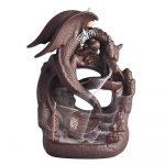 Dragon Guardian Backflow Incense Burner Burning