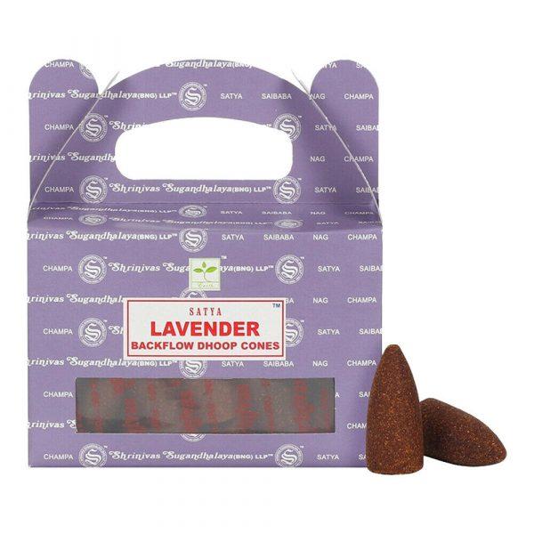 Lavender - Satya Backflow Incense Cones Box