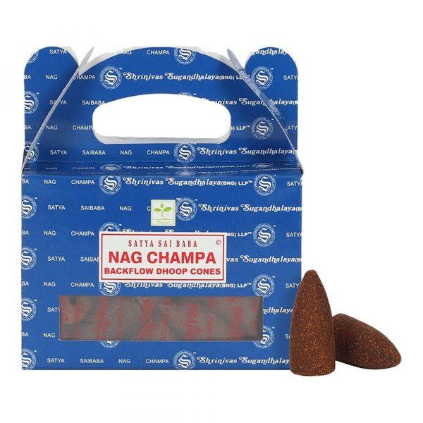 Nag Champa - Satya Backflow Incense Cones Box