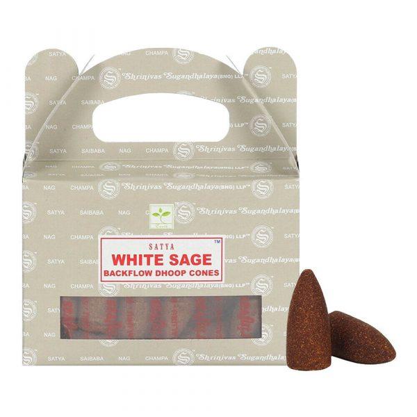 White Sage - Satya Backflow Incense Cones Box