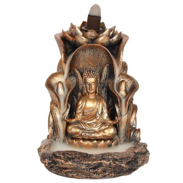 Bronze Style Buddha Backflow Incense Burner
