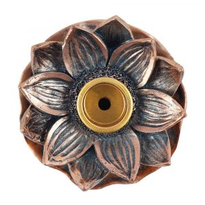 Bronze Style Lotus Backflow Incense Burner Top View