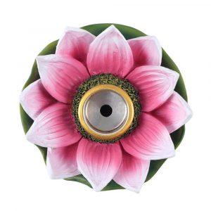 Coloured Lotus Backflow Incense Burner Top View