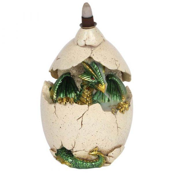 Green Dragon Egg Backflow Incense Burner Front View