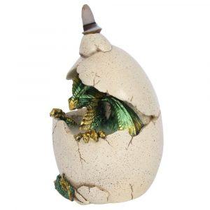 Green Dragon Egg Backflow Incense Burner Side View