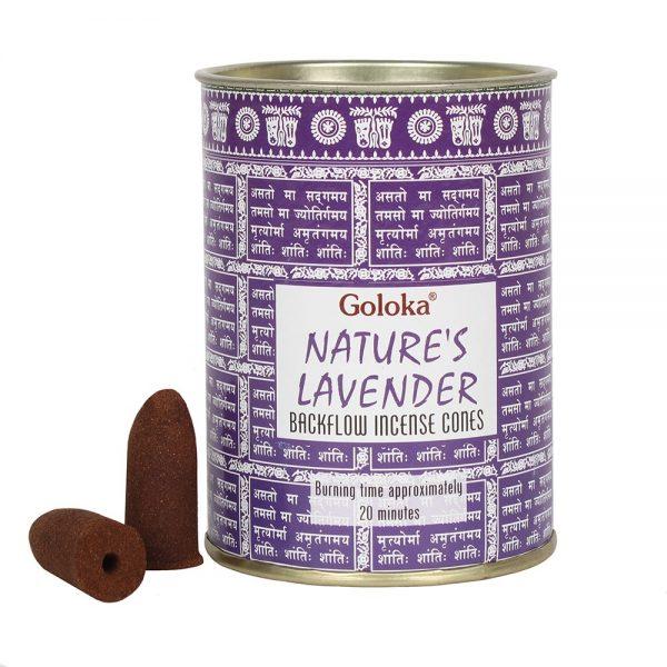 Lavender - Goloka Backflow Incense Cones